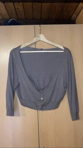 Takko Fashion Boléro gris brun-beige