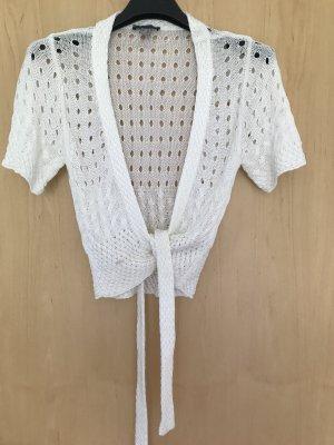 Bandolera Crochet Cardigan white