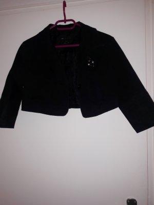 Bolero, ganz kurze Jacke, schwarz mit schöner Brosche.