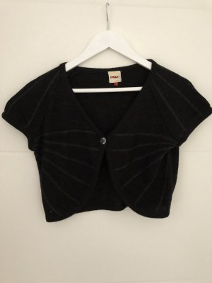 Only Knitted Bolero black-silver-colored cotton
