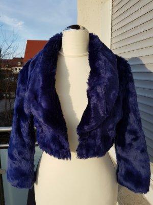 Tally Weijl Fake Fur Jacket blue violet