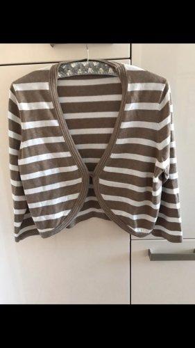 Public Knitted Bolero light brown-natural white