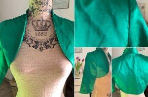 Bolero - Satin/Glanz - Kurz/Short - Smaragdgrün - Größe 38 M
