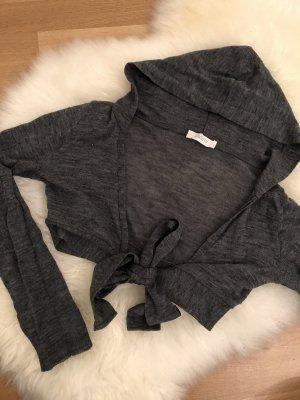 Kontatto Sweter bez rękawów z cienkiej dzianiny antracyt