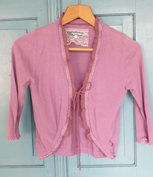 Pepe Jeans Short Sleeve Knitted Jacket mauve cotton