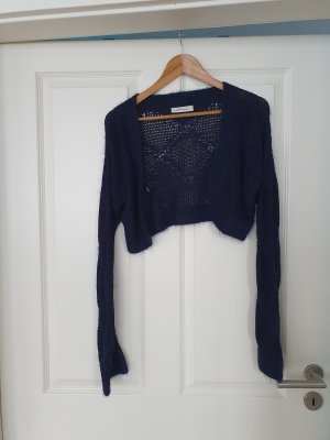 Knitted Bolero dark blue