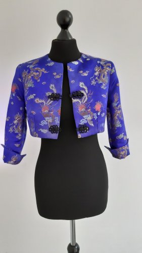 Bolero neon blue polyester