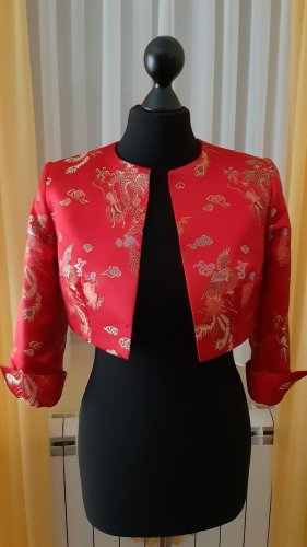 Bolero raspberry-red polyester