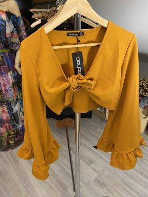 Boohoo Empiècement de blouses orange foncé