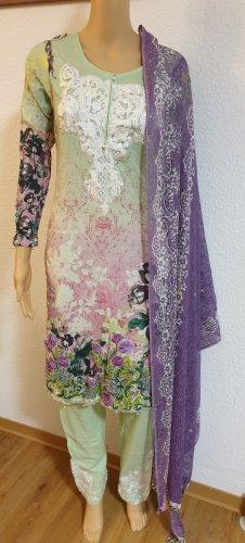 Aus Indien Letnia sukienka Wielokolorowy