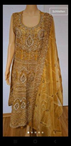 Aus Indien Suknia ślubna złoto-piaskowy brąz