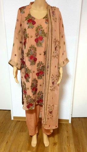Aus Indien Suknia balowa w kolorze różowego złota-czerwony neonowy