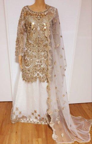 Bollywood Hochzeit/Verlobung Fancy strass Embroidered Kleidung