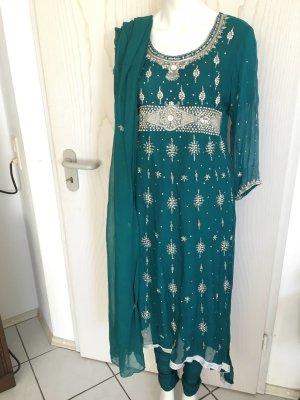 Bollywood Indische Pakistanische Kleidung 3 Teile Salwar Kameez Anarkali M 40 42