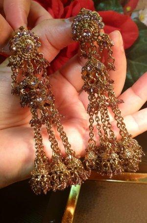 Aus Indien Wiszące kolczyki złoto-różowy