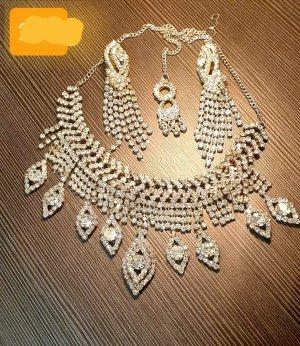 Aus Indien Zestaw biźuterii srebrny