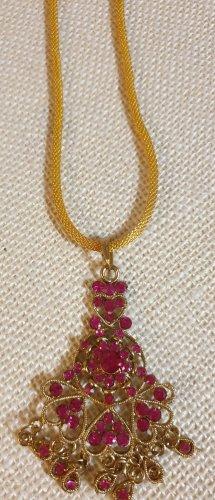 Aus Indien Naszyjnik złoto-różowy