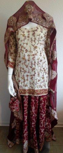 Bollywood Outfit 4 Teilig Lehenga Suit Salwar Kameez Wedding Party Bridal Suit
