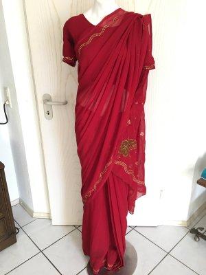 Bollywood Saari Sari Indische Pakistanische Kleidung mit Wickelhilfe 3 Teilig