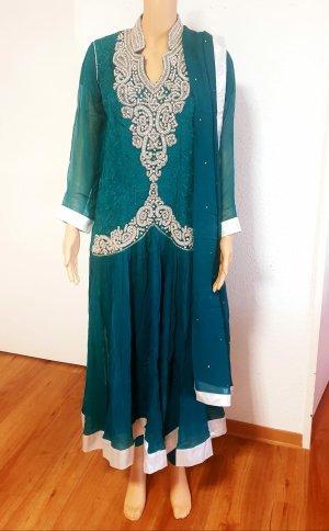 Bollywood see grün Fancy strass Maxi lange Kleid
