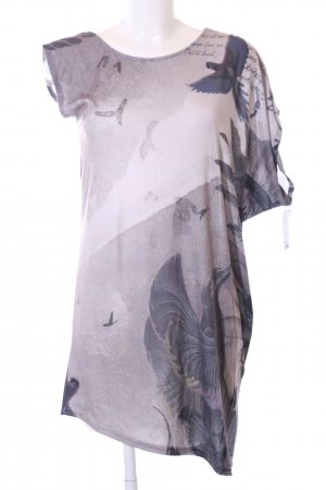 Bolongaro Trevor One Shoulder Shirt animal pattern casual look
