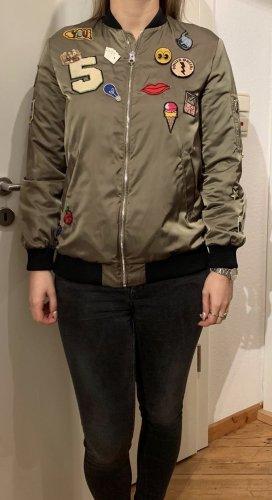 Zara Bomber Jacket olive green