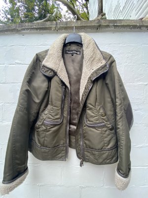 Creenstone Bomber Jacket dark green-natural white