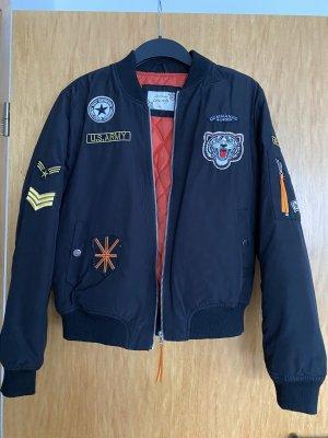 classic fashion Bomber Jacket black