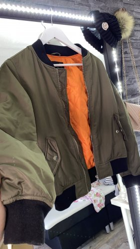 New Yorker Giacca bomber cachi-arancione