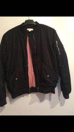 H&M Bomber Jacket rose-gold-coloured-black