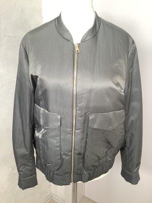 H&M Bomber Jacket green grey