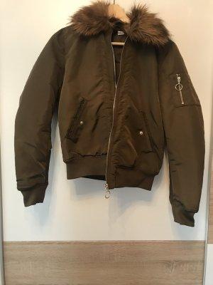 H&M Divided Bomber Jacket khaki-grey brown
