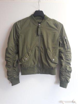 Bershka Bomber Jacket khaki