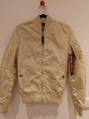 Alpha Industries Blouson aviateur beige clair-crème tissu mixte