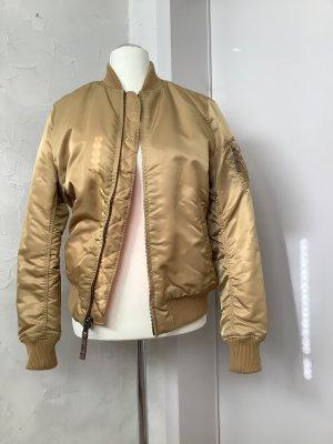 Alpha Industries Chaqueta bomber color bronce-naranja Nailon