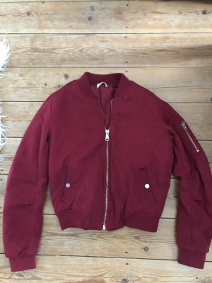 H&M Bomber Jacket bordeaux