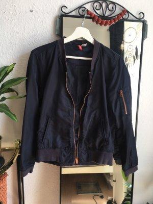H&M Bomber Jacket dark blue