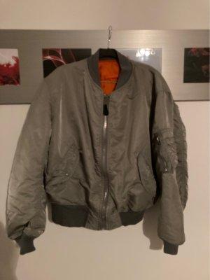 Alpha Industries Blouson aviateur argenté-orange