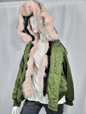 Miss & Furs Pelt Jacket forest green