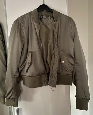 H&M Divided Bomber Jacket green grey