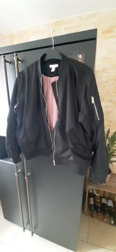 H&M Bomber Jacket black-pink