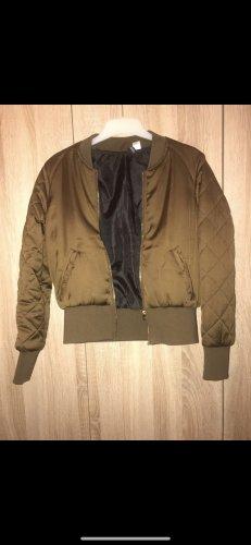 H&M Bomber Jacket olive green-khaki