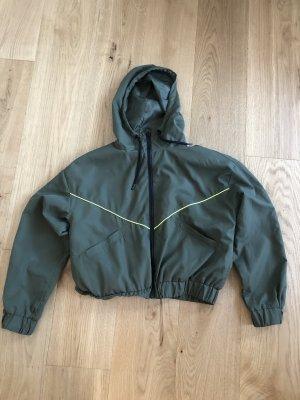 yfl RESERVED Bomber Jacket neon yellow-dark green