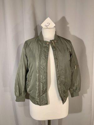 Zara Veste d'aviateur gris vert