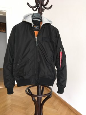Alpha Industries Bomberjack zwart-oranje Nylon