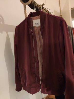 STAY Blouson aviateur rouge-violet polyester