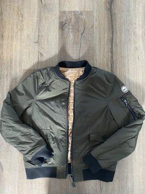 No. 1 Como Bomber Jacket khaki-rose-gold-coloured
