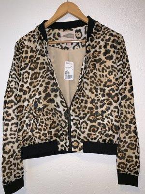 Bomberjacke Leoparden Muster