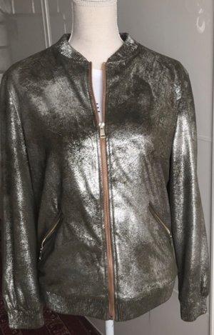 Bomberjacke metallic von Zara