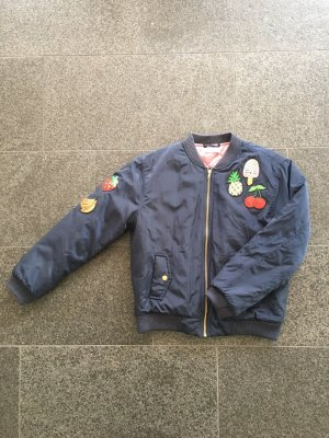 Bomberjacke mit Paillettenpatches